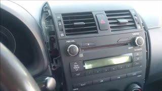How to insall AUX in toyota corolla 2009