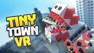 MEGA WORM BURSTS FROM STREET! - Tiny Town VR Gameplay Part 6 - VR HTC Vive Gameplay