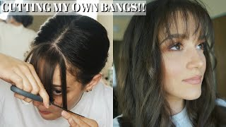 CUTTING MY OWN BANGS/FRINGE AT HOME