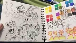 Wowie Wow Wow!! A Sketchbook!! || OCT-NOV '17 SKETCHBOOK TOUR