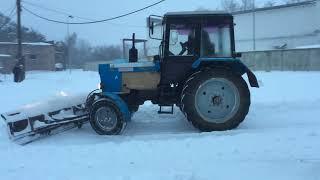 Жесть! 1 марта. Уборка снега трактором Беларус 80.1 Belarus