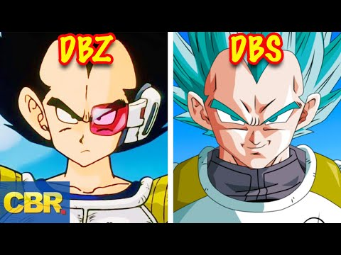 The Evolution Of Vegeta From Dragon Ball