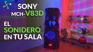 SONY V83D: BOCINAS con LUCES para llevar el ANTRO a tu CASA