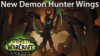 WoW: Legion - All DIFFERENT AMAZING Demon Hunter Glide Wings
