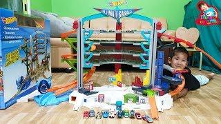 น้องบีม   รีวิวของเล่น EP168   โรงจอดรถเหล็กฮอตวีลชุดใหญ่ Hotwheels Toys