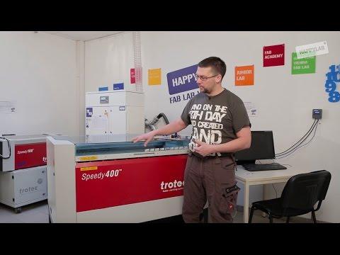 Trotec Laser Cutter: Einschulung