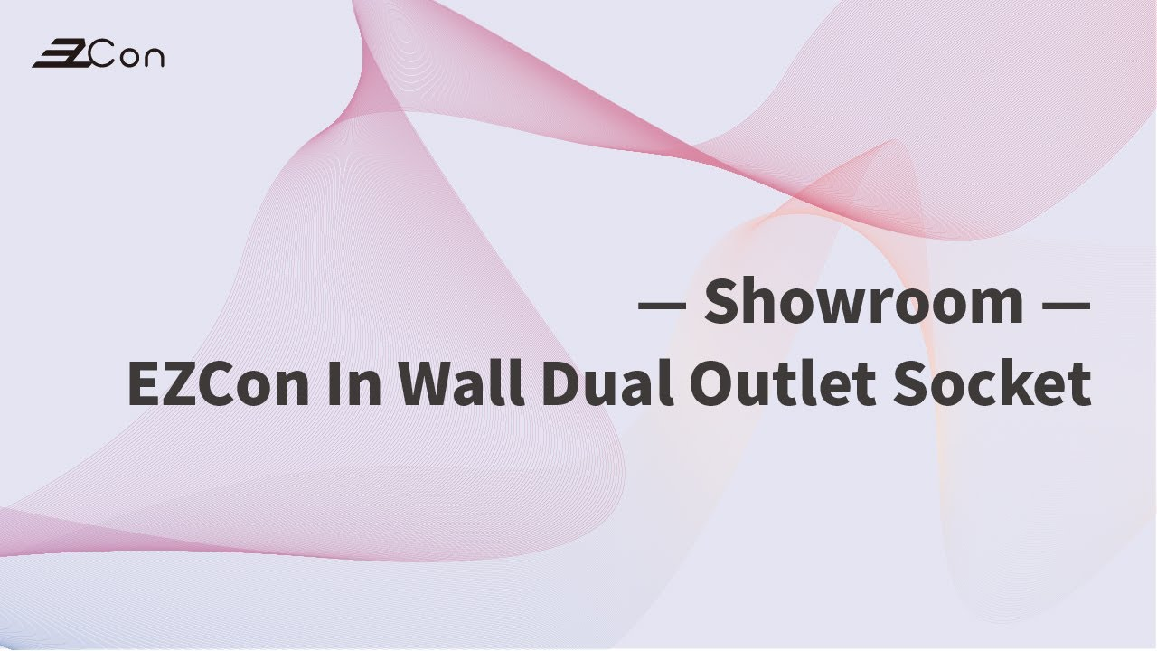 EzCon In Wall Dual Outlet Socket