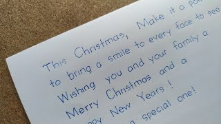 how to write merry christmas and happy new year for someone special