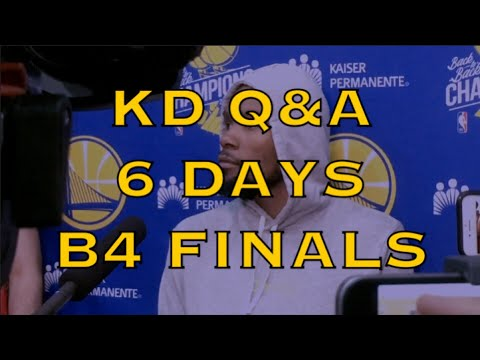 Entire KD (KEVIN DURANT) interview from Warriors (0-0) practice 6 days b4 Finals