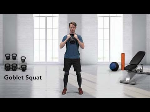 How to do a Kettlebell Goblet Squat - YouTube