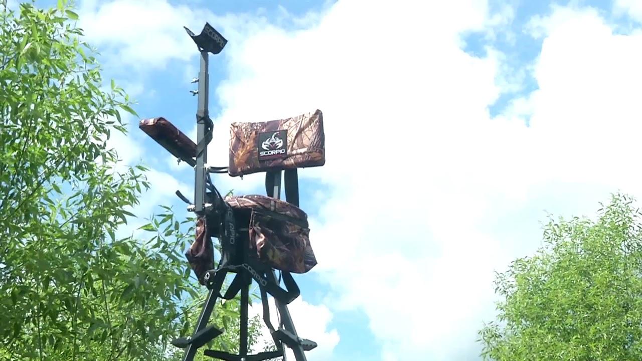 Видео о товаре Мобильная вышка для охоты