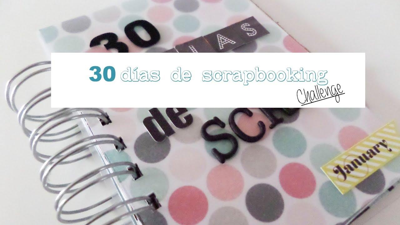 30 días de scrapbooking. Mini álbum enero 2014