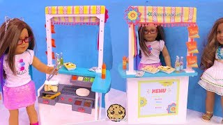 American Girl Snack Stand with Yummy Mexican Food - Toy Video