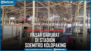 Pasar Darurat Bagi Korban Kebakaran Pasar Induk Banjarnegara