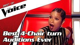 TOP 10 | BEST ALL TURN Blind Auditions in The Voice