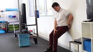 WALL SQUAT - with Physiotherapist, Ethan Hanley