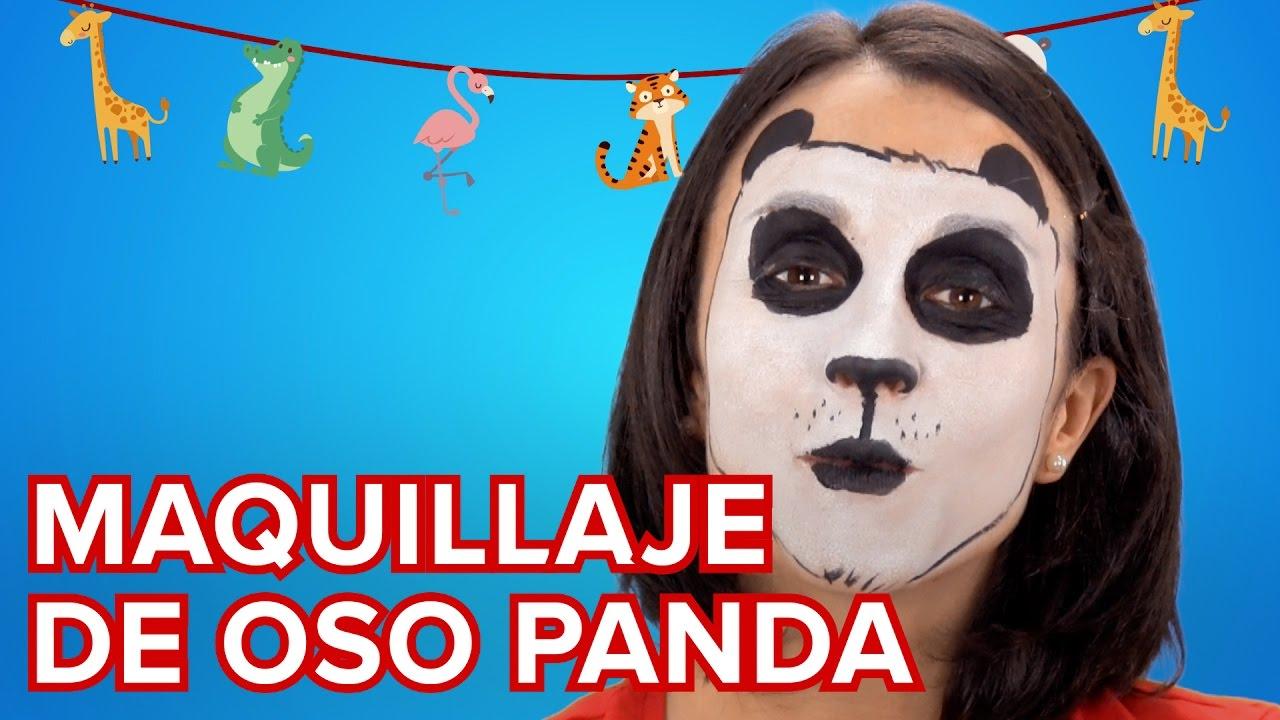 Maquillaje de oso panda para niños | Tutorial de maquillajes de fantasía