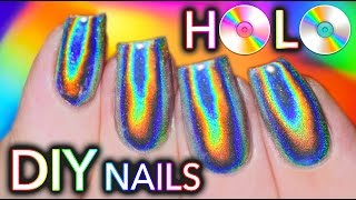 100% PURE HOLO (holographic) NAILS! GEL and NO-GEL POLISH!!