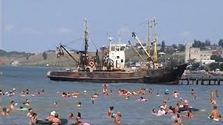 Бердянск 2018 Июль пляж Лиски