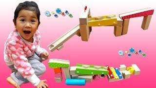 積み木でピタゴラ遊び☆木製ビー玉ころがしつみきセットimaginarium おもちゃhimawari-CH