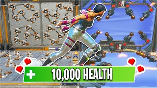 This 10,000 HEALTH Deathrun has 10 WORLDS... *CRAZY* (Fortnite Creative)