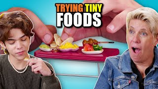 Try To Eat This Challenge - Tiny Foods (Pancakes, Tacos, Pasta, and more!)