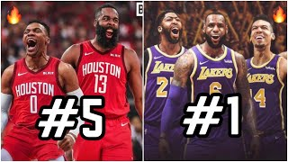 Ranking ALL 30 Starting 5's For the 2019-20 NBA Season!   Los Angeles Lakers With LeBron James at #1