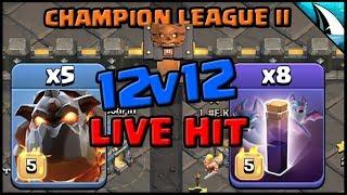 *CLUTCH?* CWL LIVE Final Hit on #1 | Th12 Bat Spells | Clash of Clans