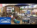 LOWE'S PATIO FURNITURE OUTDOOR SOFAS CHAIRS HOME DECOR SHOP WITH ME SHOPPING STORE WALK THROUGH