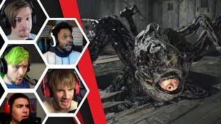 Let's Players Reaction To Jack's Mutated Form | Resident Evil 7