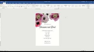 Invitation Design In Microsoft Word 2016 On A PC