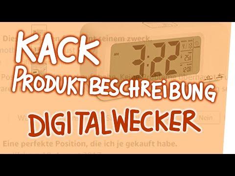 Kack Produktbeschreibung - Digitalwecker