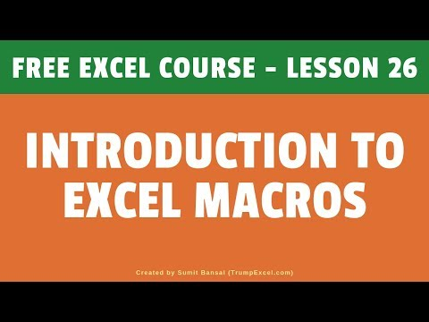 Introduction to Excel Macros (For Excel VBA Beginners) | FREE ...