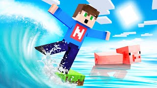 ESCAPE The TSUNAMI in MINECRAFT!