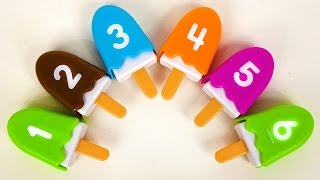 Learn Numbers Counting 1-10 for Toddlers Kids Children with Ice Cream Popsicle