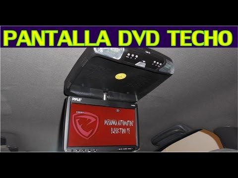 Como instalar pantalla DVD de techo en el auto (proceso completo)