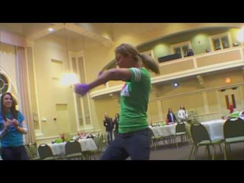 Purple Glove Dance to the tune of community service