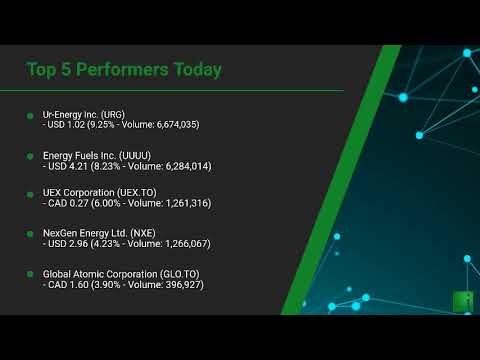 InvestorChannel's Uranium Watchlist Update for Tuesday, Ja ... Thumbnail