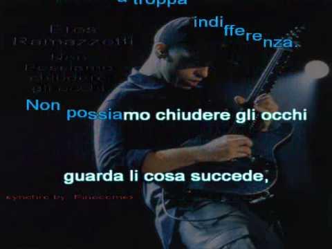Eros Ramazzotti - Non possiamo chiudere gli occhi (karaoke)