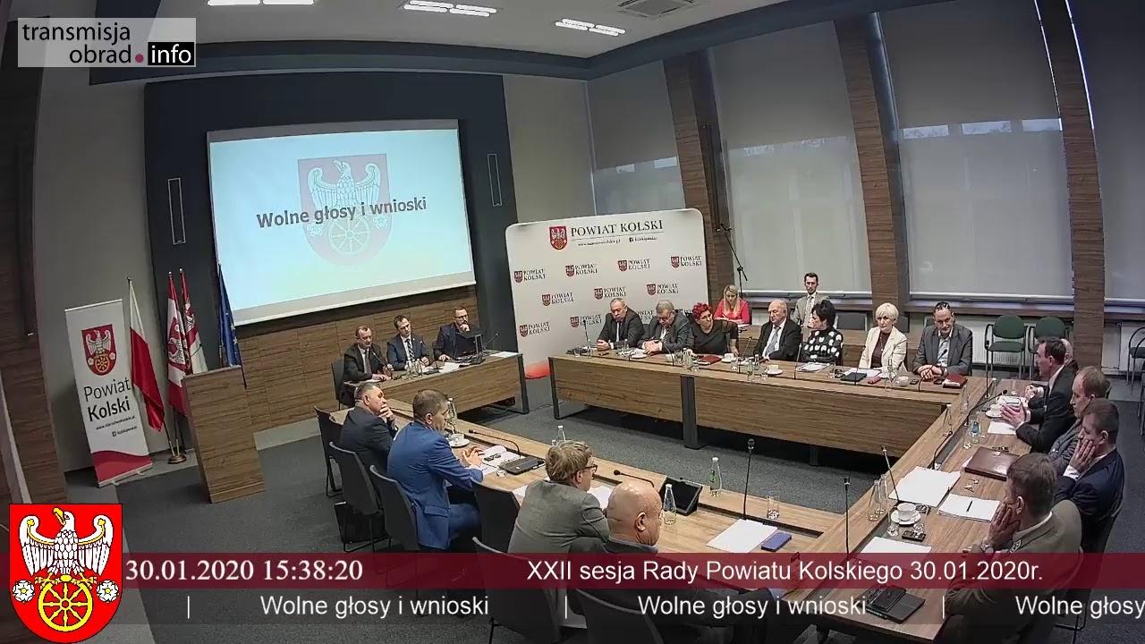 Zdjęcie do XXII Sesja Rady Powiatu Kolskiego
