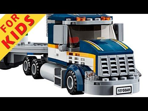 Lego Custom Show truck based on set 60151 - смотреть онлайн