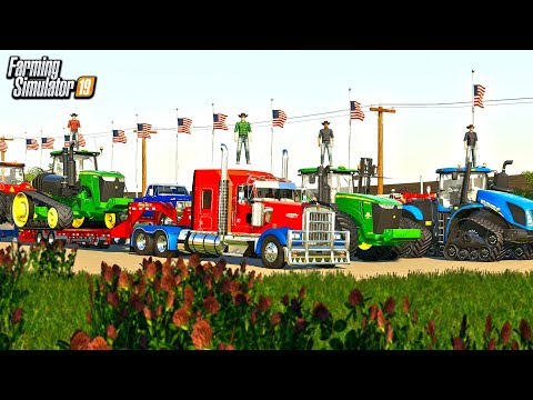 4TH OF JULY PARADE! RED, WHITE AND BLUE SEMIS, TRUCKS