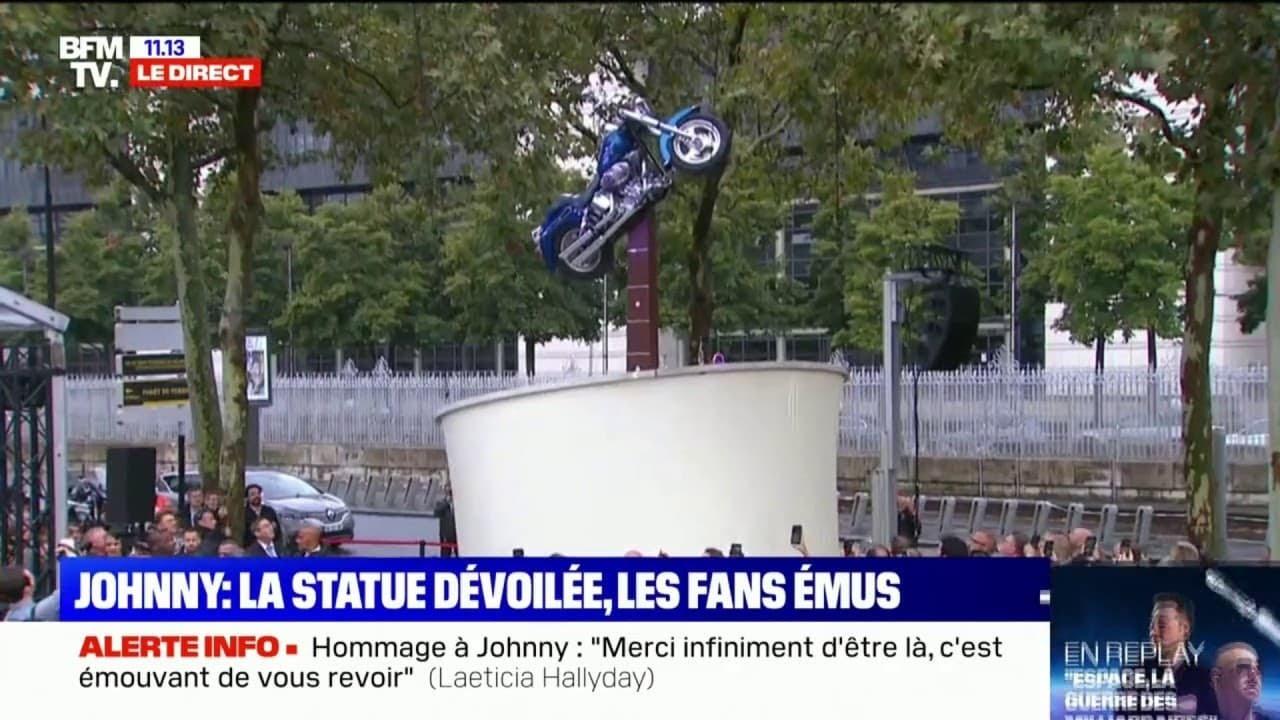 Revivez l'inauguration de la statue en hommage à Johnny Hallyday sur BFMTV