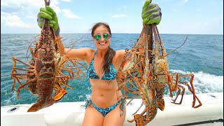Lobstering in Florida! CATCH, Clean, COOK Lobster CEVICHE!
