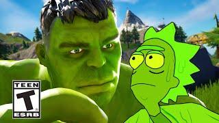 Hulk Arrives in Fortnite Island (Fortnite Hulk Trailer Fanmade)
