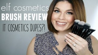Review: Elf Cosmetics Face Brushes   It Cosmetics Dupes?   @girlythingsby_e