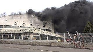 Пожар во дворце спорта имени Ивана Ярыгина