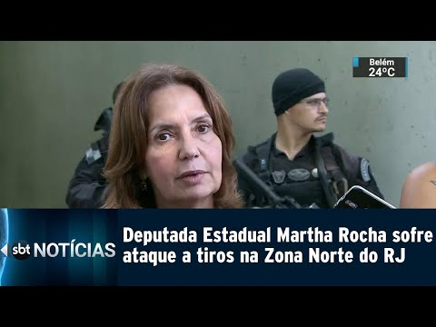 Deputada Estadual Martha Rocha sofre ataque a tiros na Zona Norte do RJ
