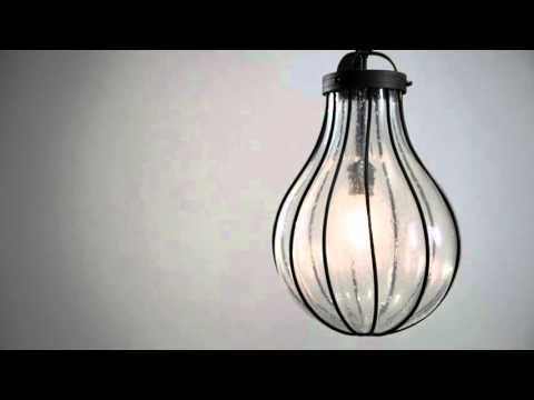 Video for Murphy Vintage Iron 32-Inch One-Light Pendant with Hand-Blown Glass