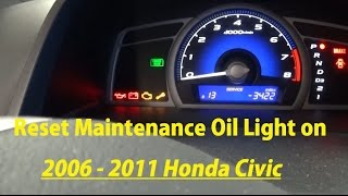 Third brake light bulb replacement on honda civic 2006 2007 2008 how to reset maintenance oil light on 2006 2007 2008 2009 2010 2011 honda civic fandeluxe